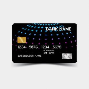 Blauwe verloop creditcard.