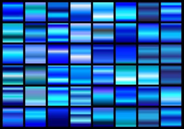 Blauwe verlopen collectie