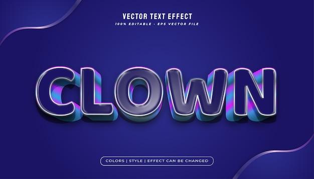 Blauwe vetgedrukte tekststijl met plastic textuur en reliëfeffect