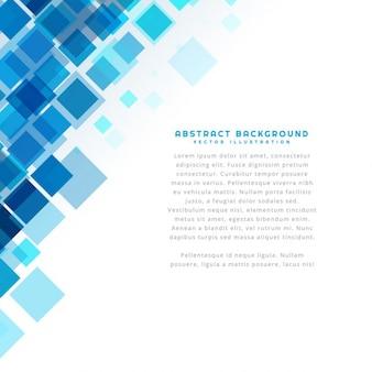 Blauwe vierkanten achtergrond sjabloon