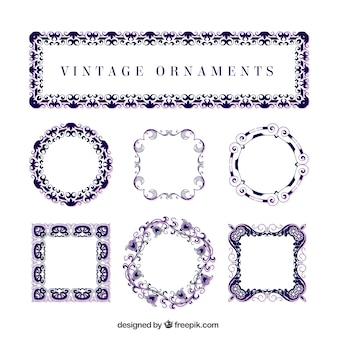 Blauwe vintage ornamenten