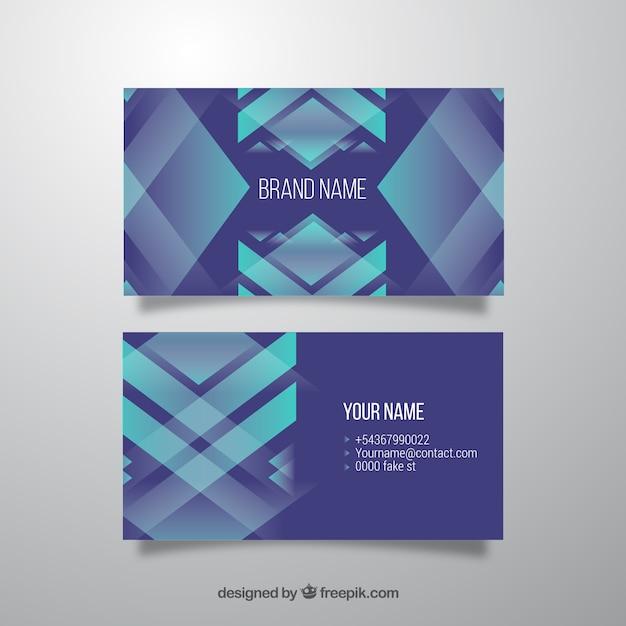 Blauwe visitekaartje