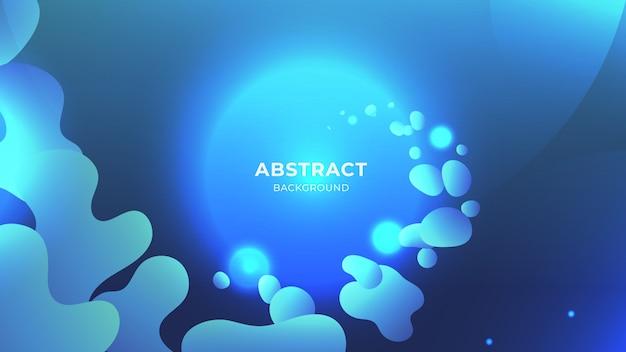 Blauwe vloeibare abstracte achtergrond