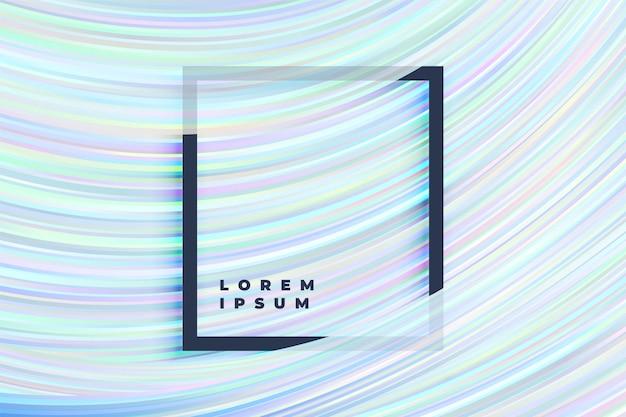 Blauwe vloeiende lijnen patroon achtergrond