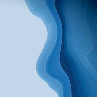 Blauwe vloeistof patroon achtergrond vector