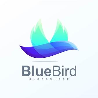 Blauwe vogel logo