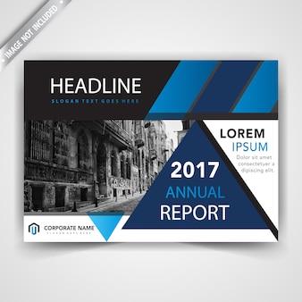 Blauwe vorm brochures boekje omslag