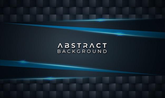 Blauwe vorm op donkere abstracte achtergrond
