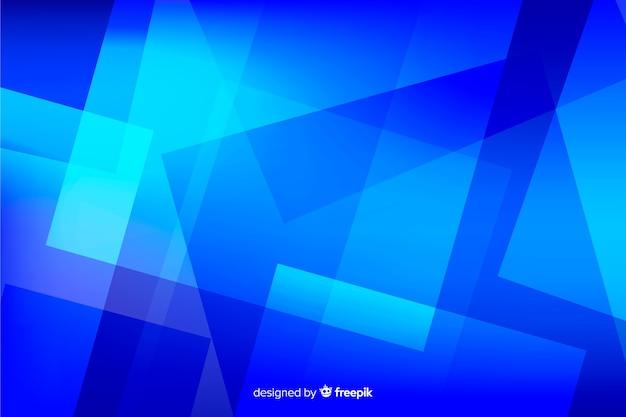 Blauwe vormen abstracte achtergrond