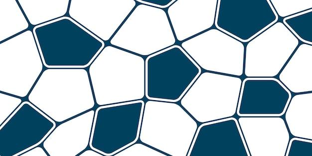 Blauwe voronoi patroon achtergrond