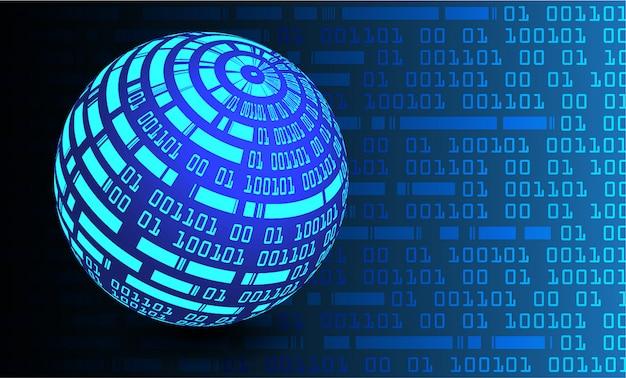 Blauwe wereld cyber circuit toekomstige technologie concept achtergrond