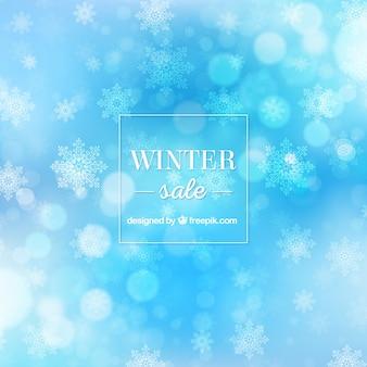 Blauwe winter verkoop achtergrond
