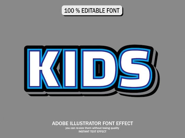 Blauwe, witte en blauwe letters met originele efecten