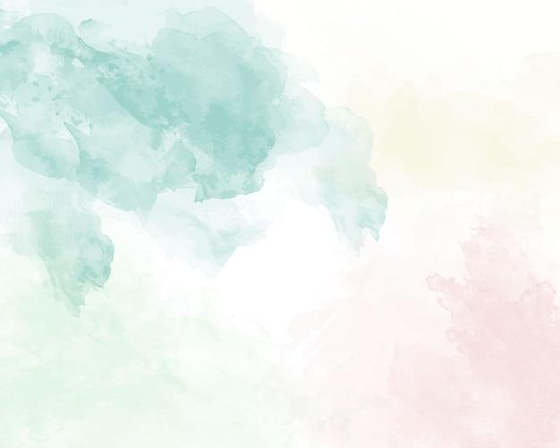 Blauwe zachte aquarel abstracte textuur.