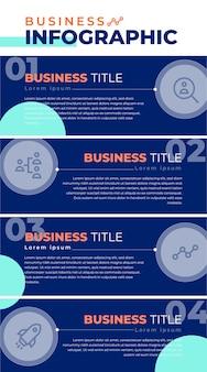Blauwe zakelijke infographic