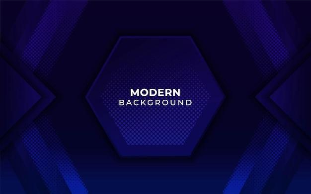 Blauwe zeshoek technische achtergrond met halftone textuur