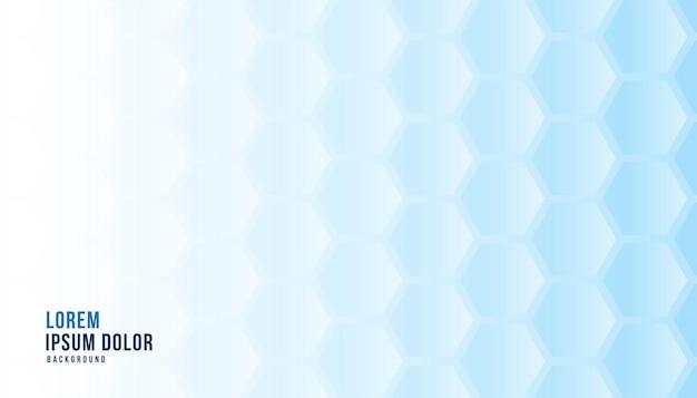 Blauwe zeshoekige achtergrond medische concept