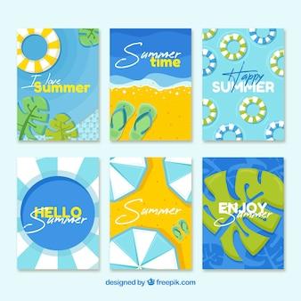 Blauwe zomerkaart collectie