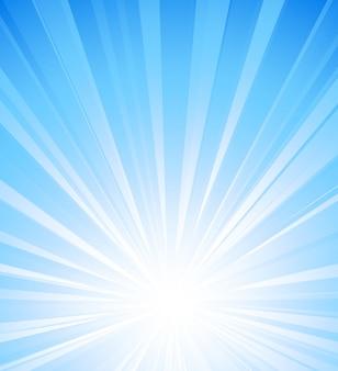 Blauwe zomerzon lichte burst