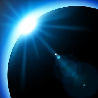 Blauwe zonsverduistering