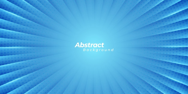Blauwe zoomachtergrond met abstracte lijnen en cirkelpunten.