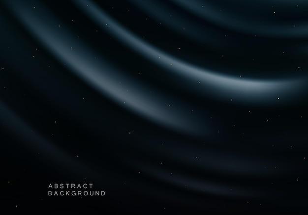 Blauwe zwarte zijdeachtergrond drapeert achtergrond