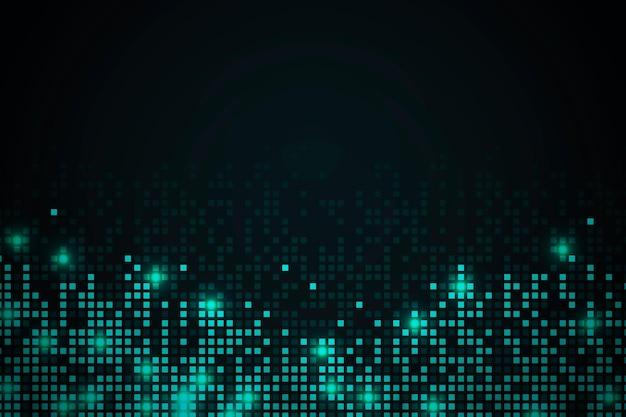 Blauwgroen abstracte pixelpatroon achtergrond