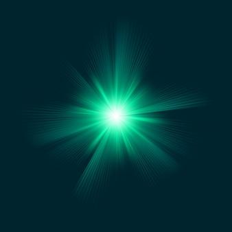 Blauwgroen kleurontwerp met een burst. bestand opgenomen