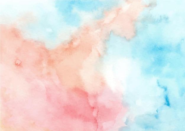 Blauworanje abstracte textuurachtergrond met waterverf