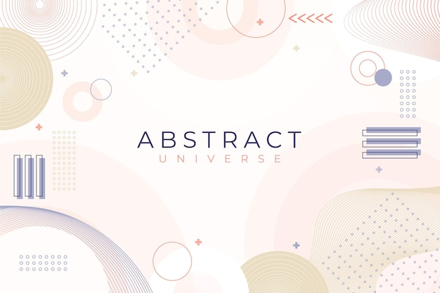 Bleke gekleurde platte ontwerp abstracte achtergrond