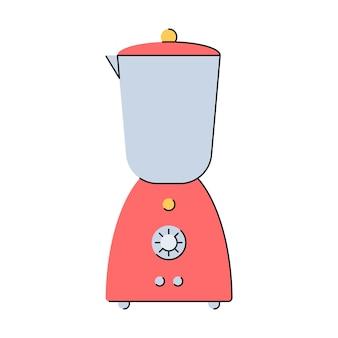 Blender mixer keukenapparatuur gereedschap voor het maken van smoothies verse sappen flat style