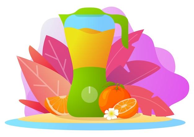 Blender sinaasappelsmoothiesap.