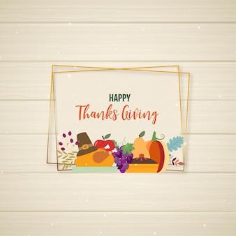Blij bedankt frame geven