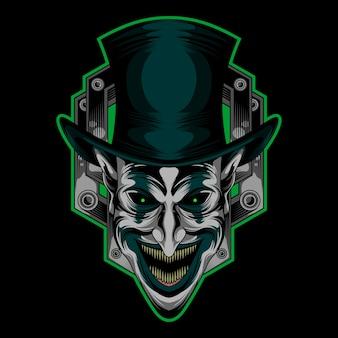 Blij gezicht clown logo
