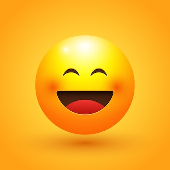 Blij gezicht emoji illustratie