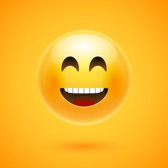 Blije emoji-glimlach.