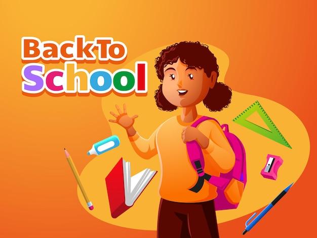 Blije kinderen weer naar school