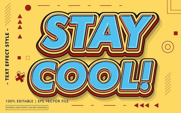 Blijf cool tekst effecten stijl