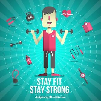 Blijf fit illustratie