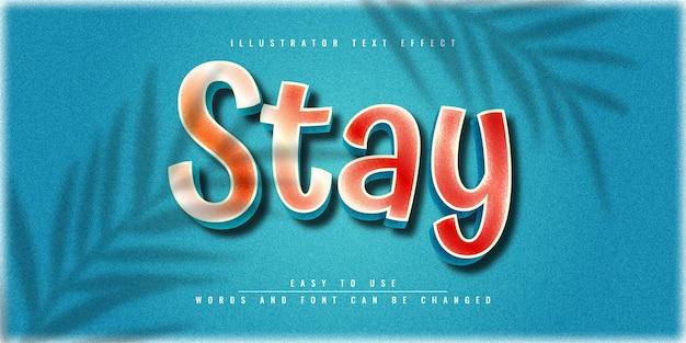 Blijf illustrator bewerkbaar 3d-teksteffect sjabloonontwerp