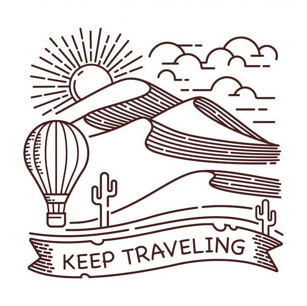 Blijf reizende illustratie