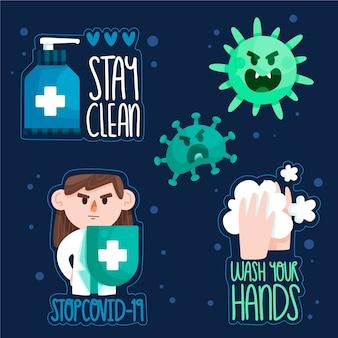Blijf schoon en veilig badgeset