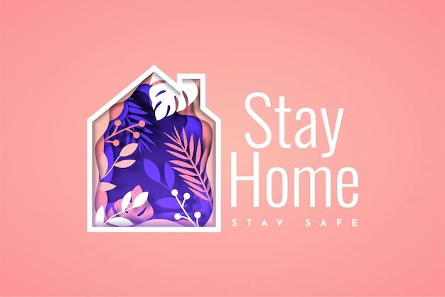 Blijf thuis blijf veilig ontwerp illustratie