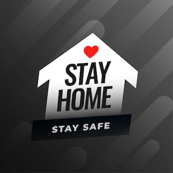 Blijf thuis en blijf veilig advies achtergrond