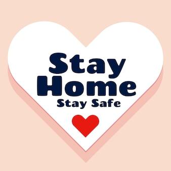 Blijf thuis en blijf veilig concept achtergrondontwerp