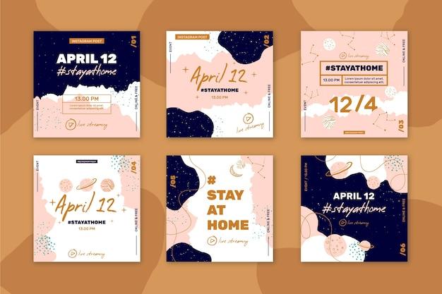 Blijf thuis evenement instagram posts