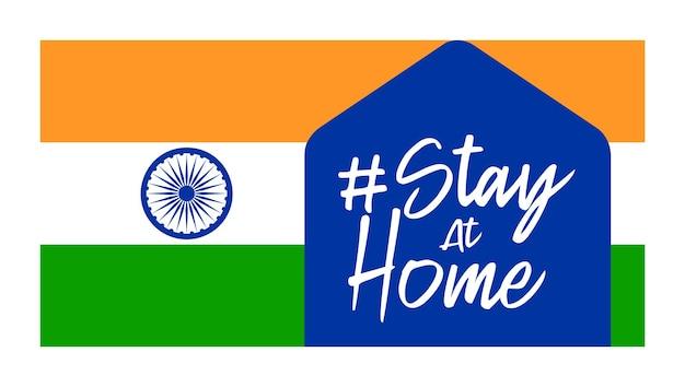 Blijf thuis india coronaviruspreventie.
