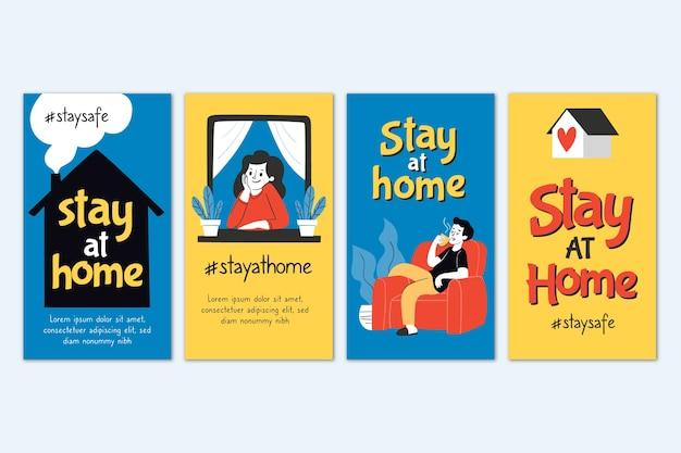 Blijf thuis instagram verhaalcollectie