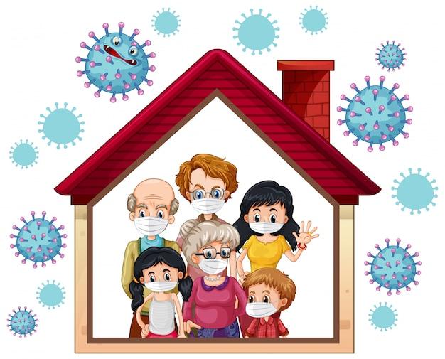 Blijf thuis om coronavirus te voorkomen
