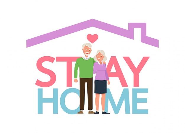 Blijf thuis tijdens de coronavirusepidemie. sociale afstand, zelfisolatie concept. familie in zelfquarantaine, bescherming tegen virussen.